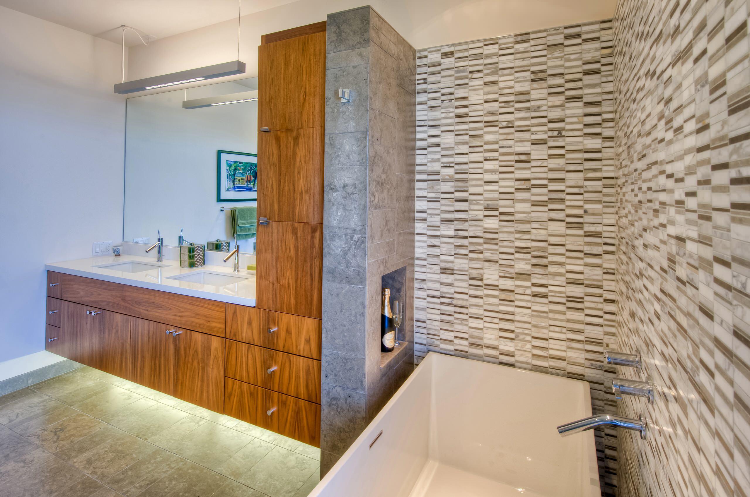 Tile Modern Bathroom Ideas Houzz