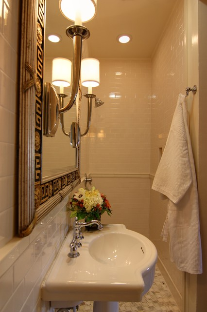 Closet To Bathroom Conversion Traditional Bathroom