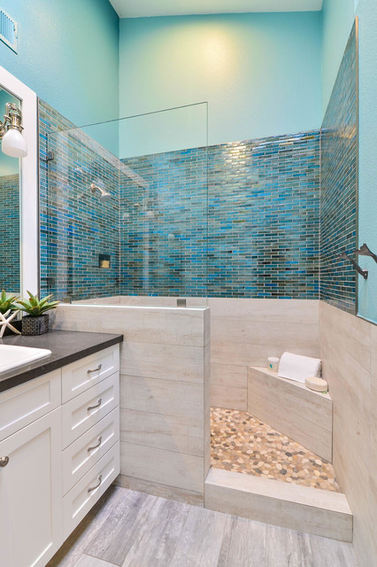 Coastal bathroom beach style bathroom san diego by for Beach inspired bathroom designs