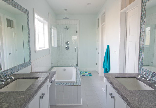 coastal craftsman transitional bathroom salt lake