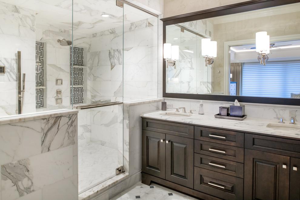 Coastal Elegance Beach Style Bathroom Tampa By Michelle