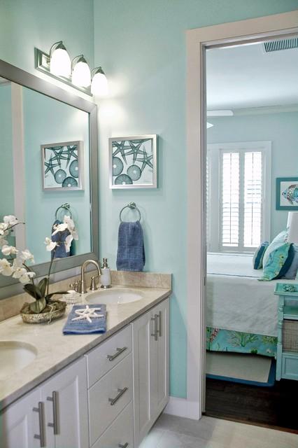 Coastal Home - Atlantic Beach beach-style-bathroom