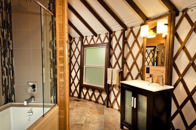 Coastal Living eclectic-bathroom