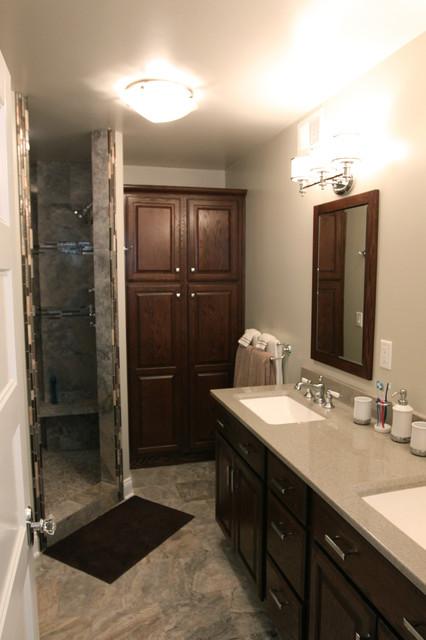 coastal master bath remodel  contemporary  bathroom