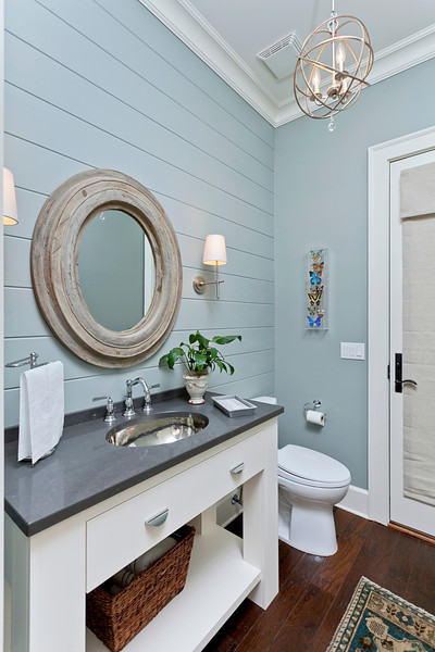 Coastal powder bath eclectic-bathroom