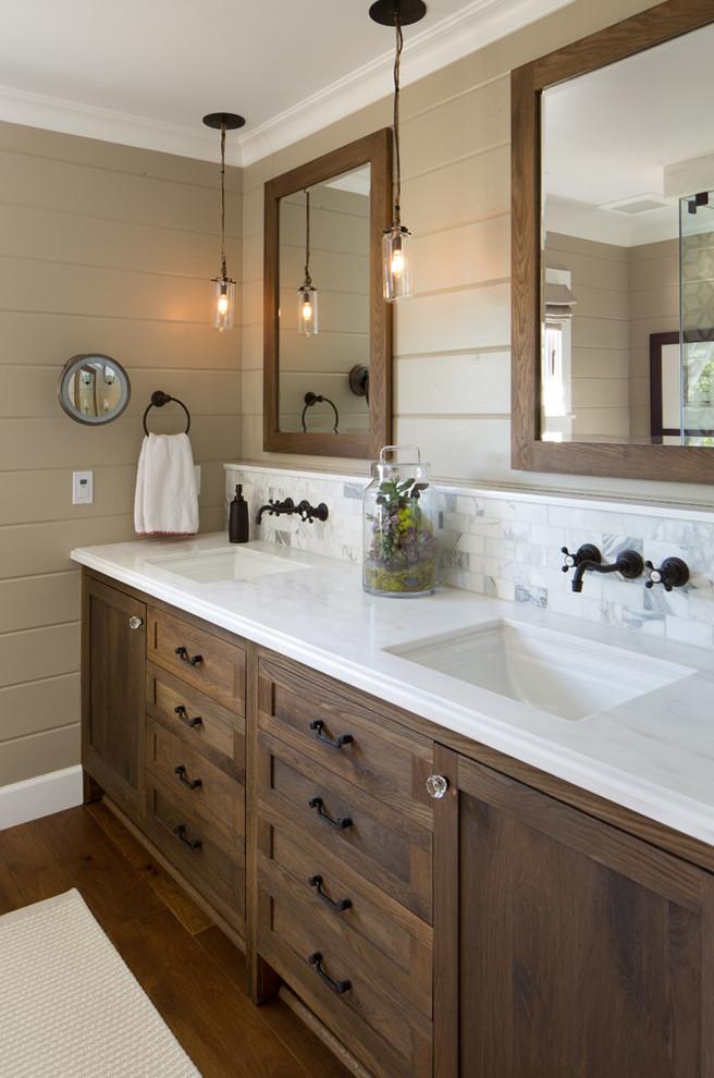 Coastal Ranch Farmhouse Bathroom San Diego By Anne Sneed Architectural Interiors Houzz