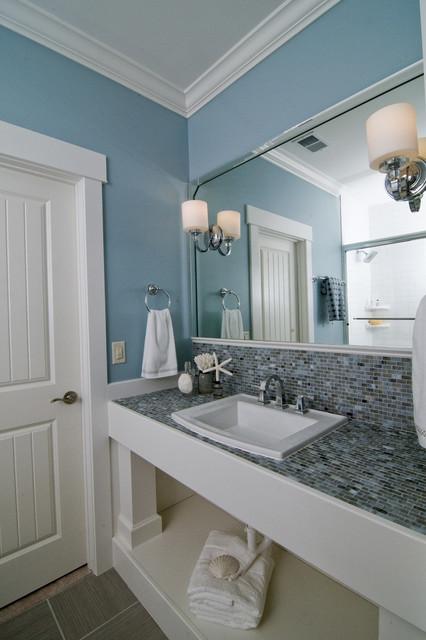 Interior Designers Decorators Coastal Retreat Guest Bath Beach Style Bathroom
