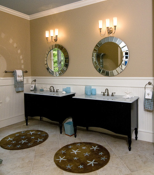 What height to put beadboard wainscoting for How high should wainscoting be in a bathroom