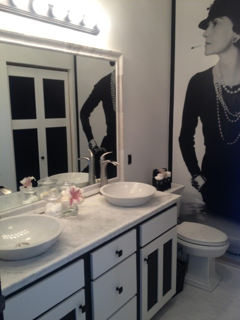 Coco Chanel Inspired Bathroom By Sarah F. Gordon