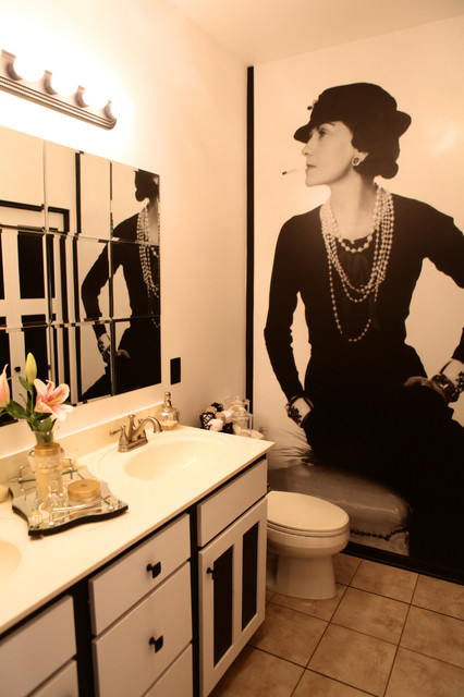 Coco Chanel Inspired Bathroom By Sarah F Gordon Professional Organizer Home Contemporary