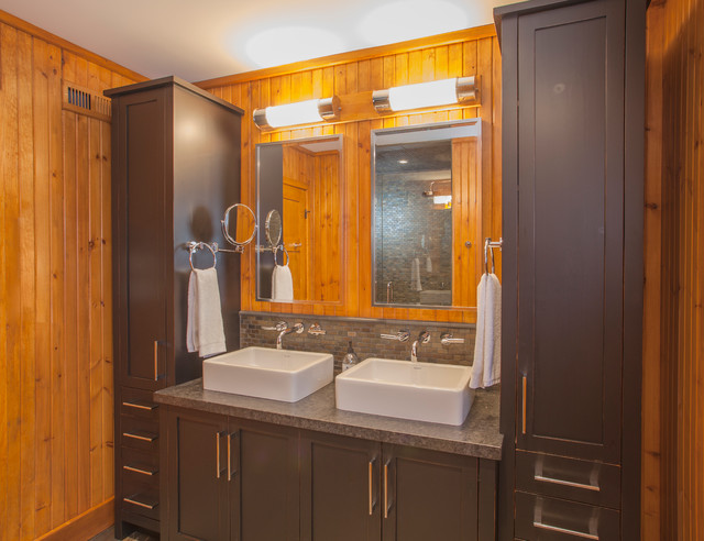 Collingwood Chalet Rustic Bathroom Toronto By Collage Designs