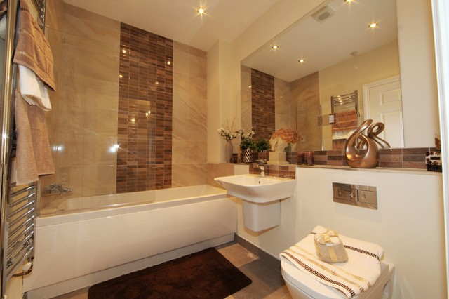 Colonial Mansion Apartment South Devon Contemporary Bathroom London By Inspired Show Homes
