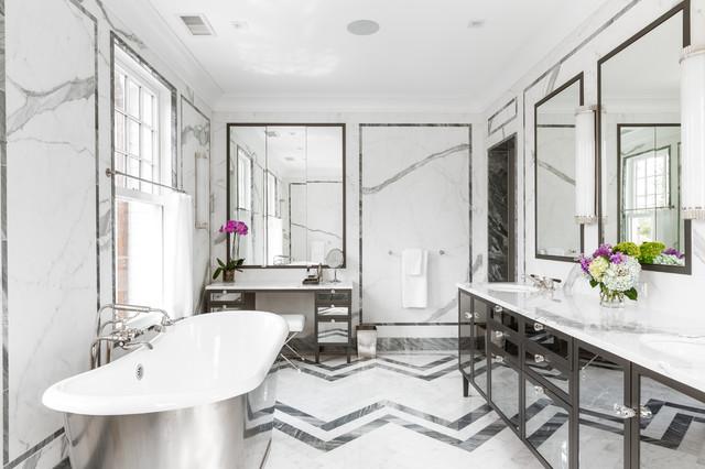 Colonial Revival Contemporary Bathroom New York By
