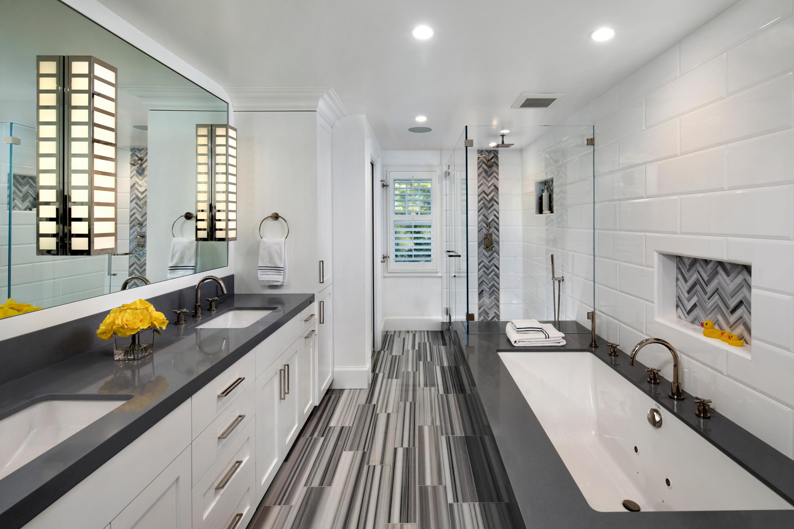 Colonial Revival - contemporary master bath