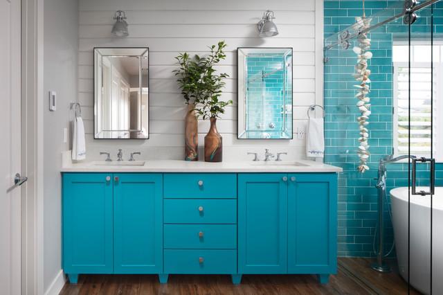 8 Elements Of Beach Style Bathrooms, Beach Bathroom Cabinets