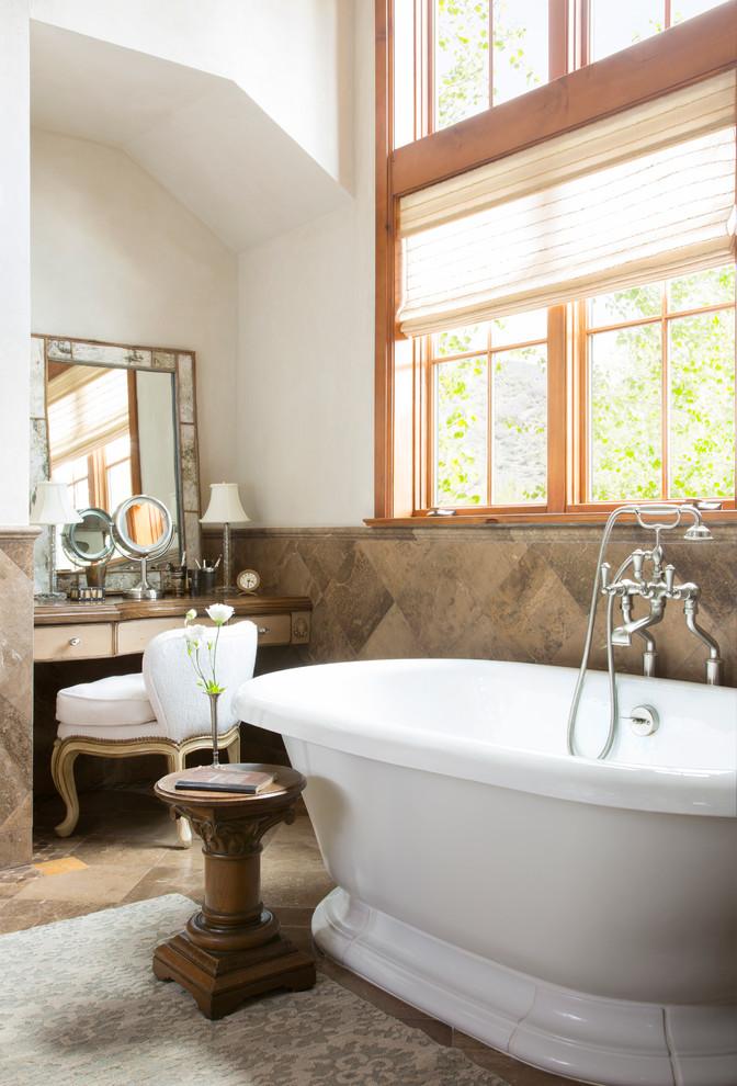 Elegant freestanding bathtub photo in Denver
