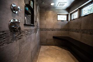 Colorado Mountain Modern Style House - Transitional - Bathroom - Denver