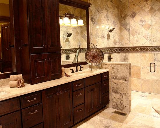 Knotty Alder Vanity Bathroom Design Ideas Pictures Remodel Decor With Dark Wood Cabinets