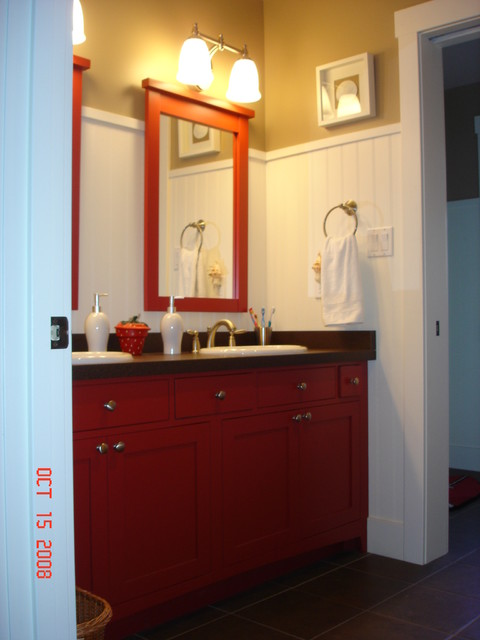 Colored Bath Cabinets traditional bathroom