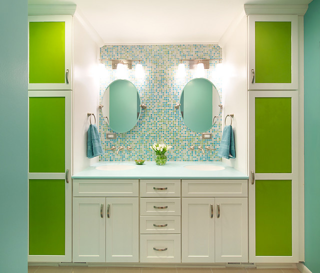 Colorful Bathrooms. 111 Worlds Best Bathroom Color Schemes For