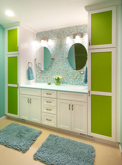 Colorful And Modern Bathroom Contemporary Bathroom