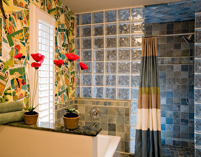 Colorful Bath Eclectic Bathroom New York By Belle