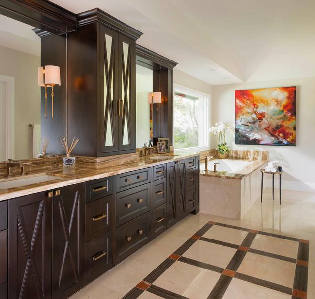 colorful class mediterran badezimmer dallas von dallas design group interiors. Black Bedroom Furniture Sets. Home Design Ideas