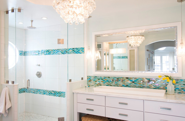 Coastal Bathroom Ideas Unique Colorful Coronado Beach Cottage  Beach Style  Bathroom  San Design Inspiration