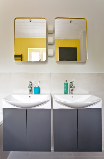 Colorful kids bathroom modern bathroom oxfordshire by instil design limited Bathroom design company limited