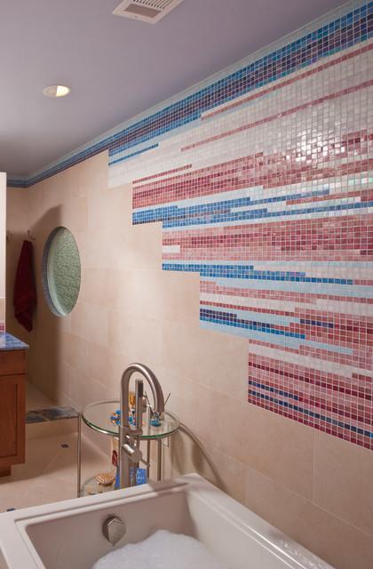 Colorful Master Bath - Alexandria, VA transitional-bathroom