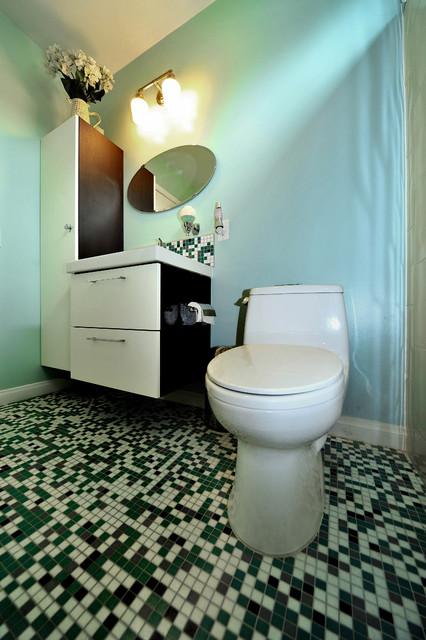 Colorful Retro Modern Bathroom Modern Bathroom Los
