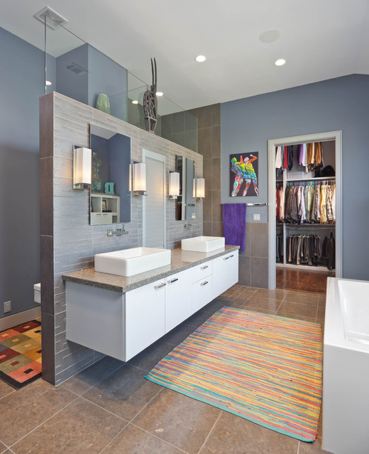 Columbia Street Residence Contemporary Bathroom