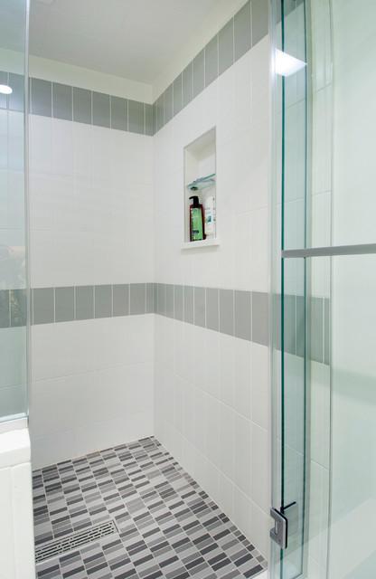 Columbus OH Mid Century Hall Bath Remodel Midcentury