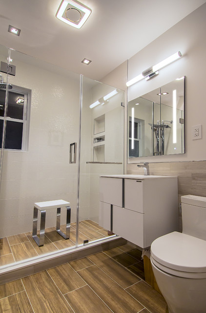 compact bath 8x6 remodel contemporary bathroom dc