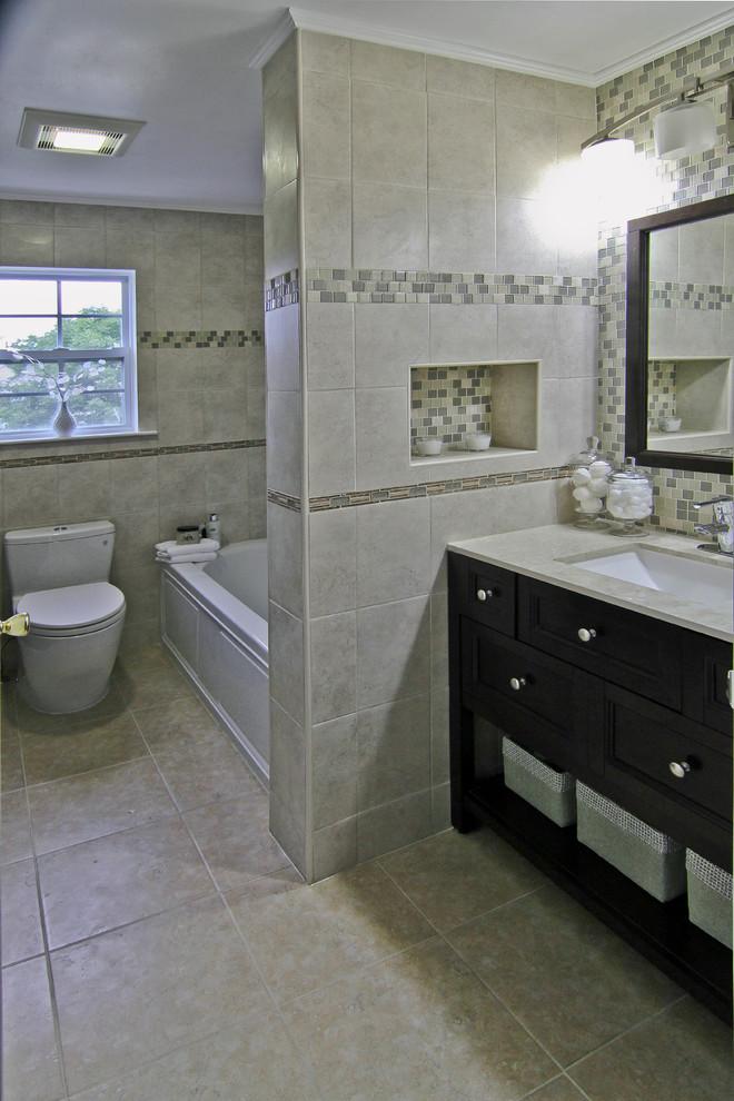 Compact Bathroom Renovation, Bridgewater, NJ - Traditional ...
