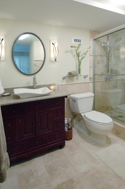 Compact Sophistication contemporary-bathroom