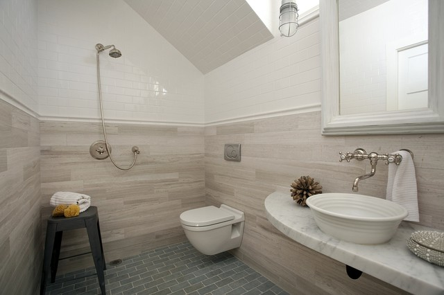 Concord Green Home beach style bathroom