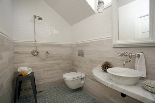 Concord Green Home modern powder room