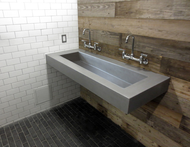 Concrete Ada Compliant Bathroom Sinks Contemporary Bathroom New York By Trueform Concrete