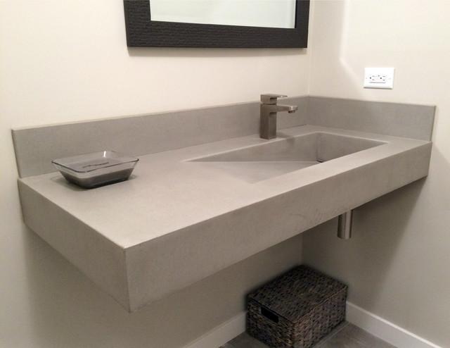 Concrete Ada Compliant Bathroom Sink Contemporary Bathroom New York By Trueform Concrete Llc Houzz
