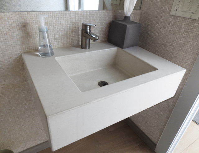 concrete ada compliant bathroom sink - contemporary - bathroom