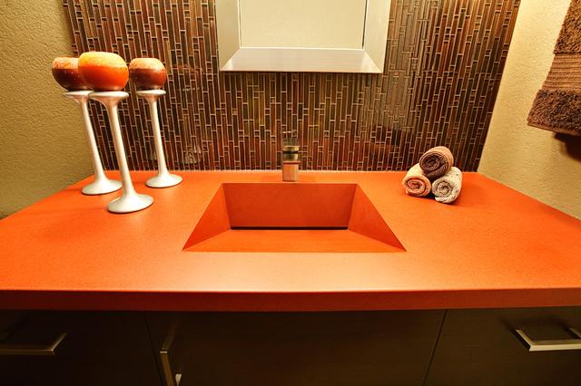 Concrete Countertop Edge Designs : CONCRETE COUNTERTOP modern-bathroom