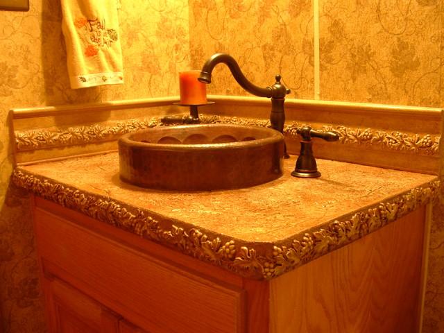 Concrete Countertops traditional-bathroom
