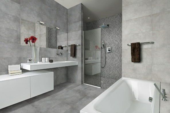 Concrete Look Bathroom Wall & Floor Tiles Sydney