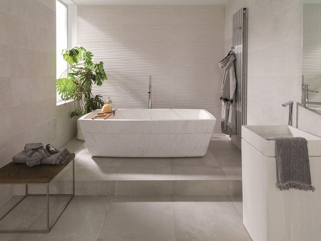 Concrete Look Tiles Dover Caliza Contemporary