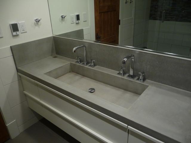 concrete sink modern bathroom. concrete sink   Modern   Bathroom   Salt Lake City   by Future