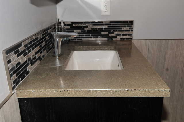 Concrete Vanity With Undermount Sink Modern Bathroom