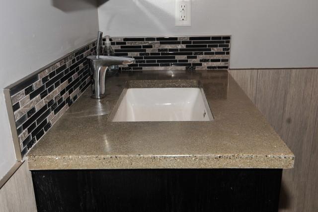 Exceptional Concrete Vanity With Undermount Sink Modern Bathroom
