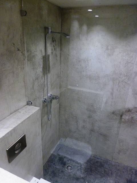 Concrete Wall Complete Bathroom Modern Bathroom Miami By Ultimate Concrete Design