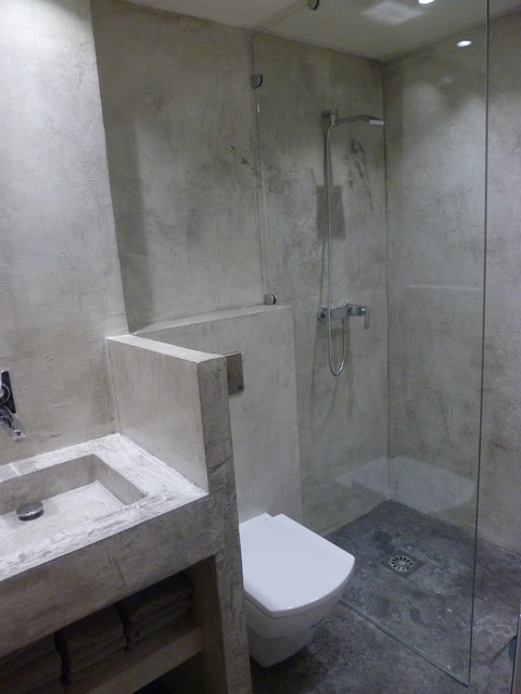 concrete wall complete bathroom modern bathroom - Concrete Walls Design